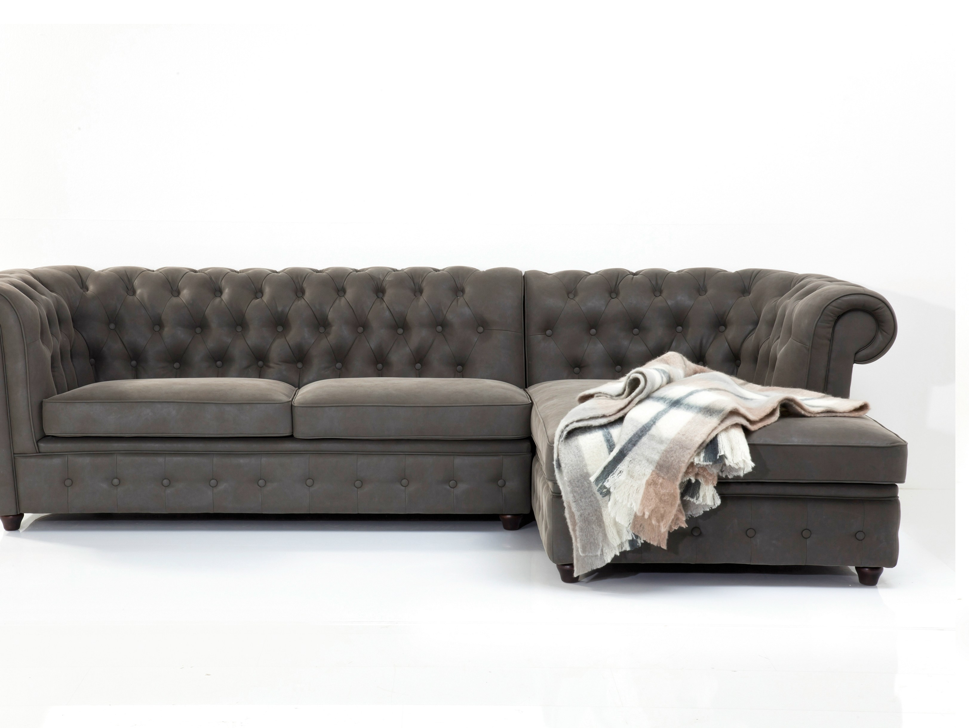 Corner 3 Seater Sofa Oxford Graphite Kare Design In Oxford Sofas (Image 2 of 15)