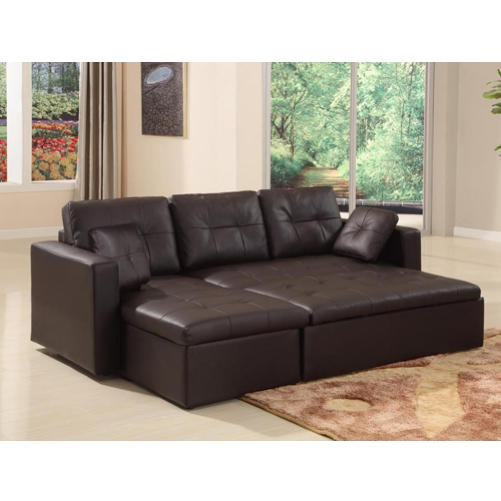 Corner Sofa Bed With Storage Leather Hereo Sofa Throughout Leather Corner Sofa Bed (Image 2 of 15)