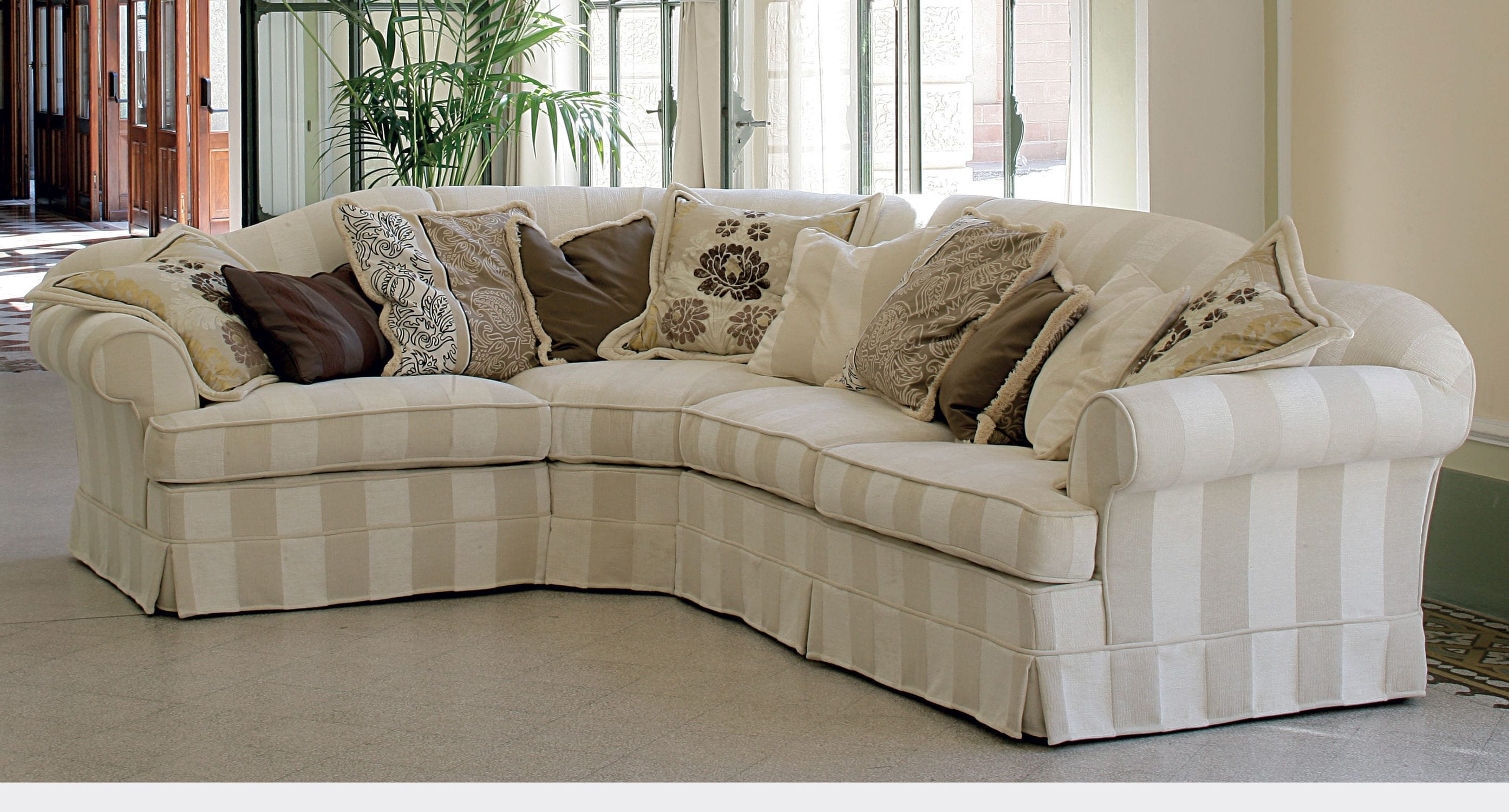 Corner Sofa Contemporary Fabric With Removable Cover Intended For Sofa With Removable Cover (Image 4 of 15)