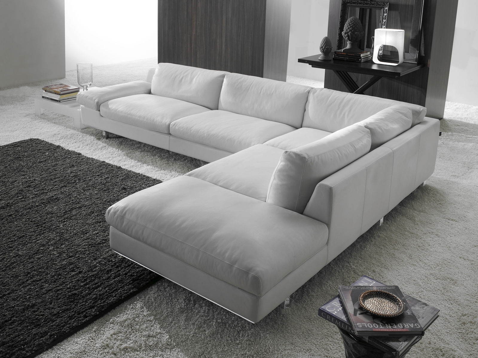 Corner Sofa Contemporary Leather 4 Seater Paran Intended For 4 Seater Sofas (Image 6 of 15)