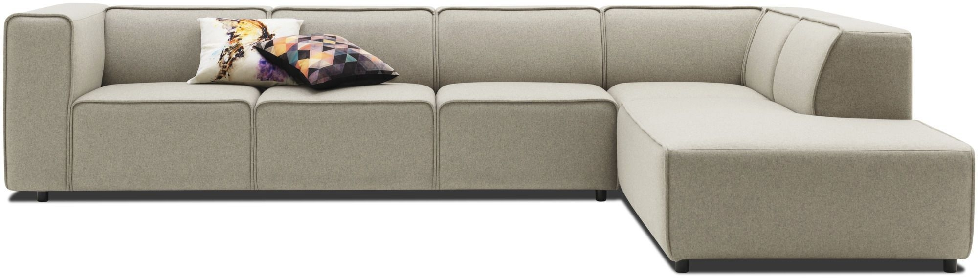 Corner Sofa Modular Contemporary Leather Carmo Anders With Regard To Modular Corner Sofas (Image 4 of 15)