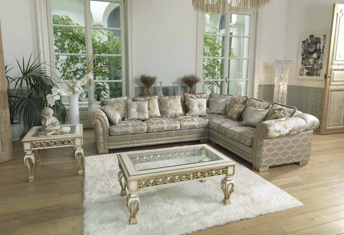 Corner Sofa Traditional Fabric 6 Seater Ambassador Pigoli Throughout Traditional Fabric Sofas (Image 4 of 15)