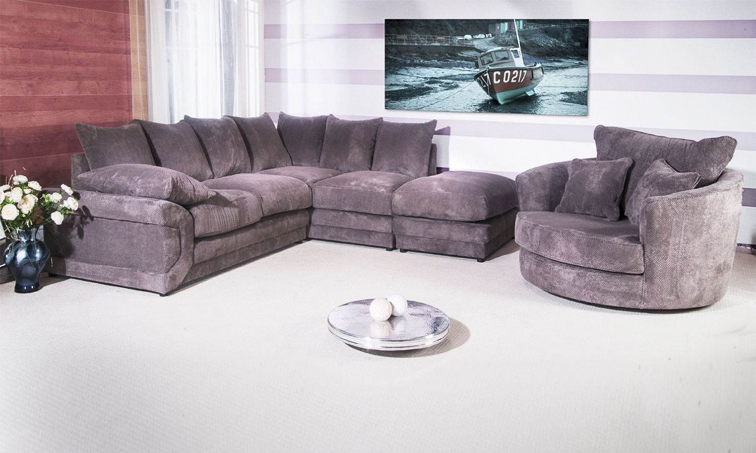 Featured Image of Corner Sofa And Swivel Chairs