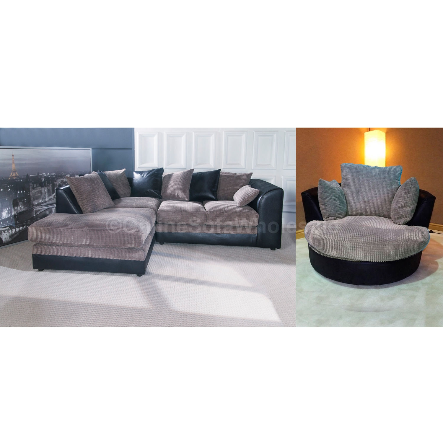 Corner Sofa With Swivel Chair Best Selling Ur7 Umpsa 78 Sofas With Corner Sofa And Swivel Chairs (Image 12 of 15)