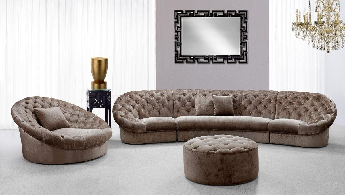 Cosmopolitan Mini Sectional Sofa Chair Ottoman Set Tan Fabric Intended For Sofa Chair And Ottoman (Image 5 of 15)