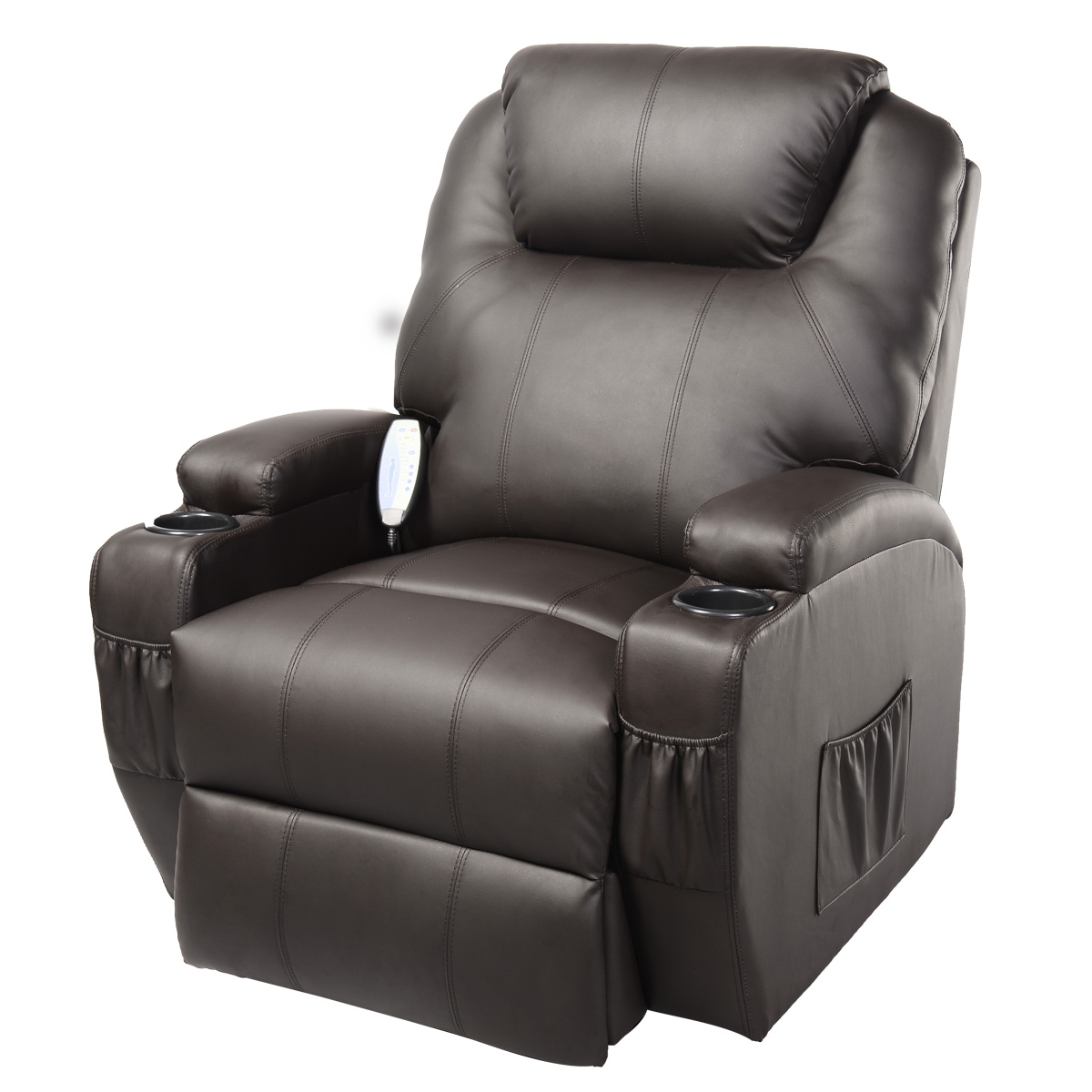 Costway Ergonomic Deluxe Massage Recliner Sofa Chair Lounge Throughout Sofa Chair Recliner (Image 7 of 15)
