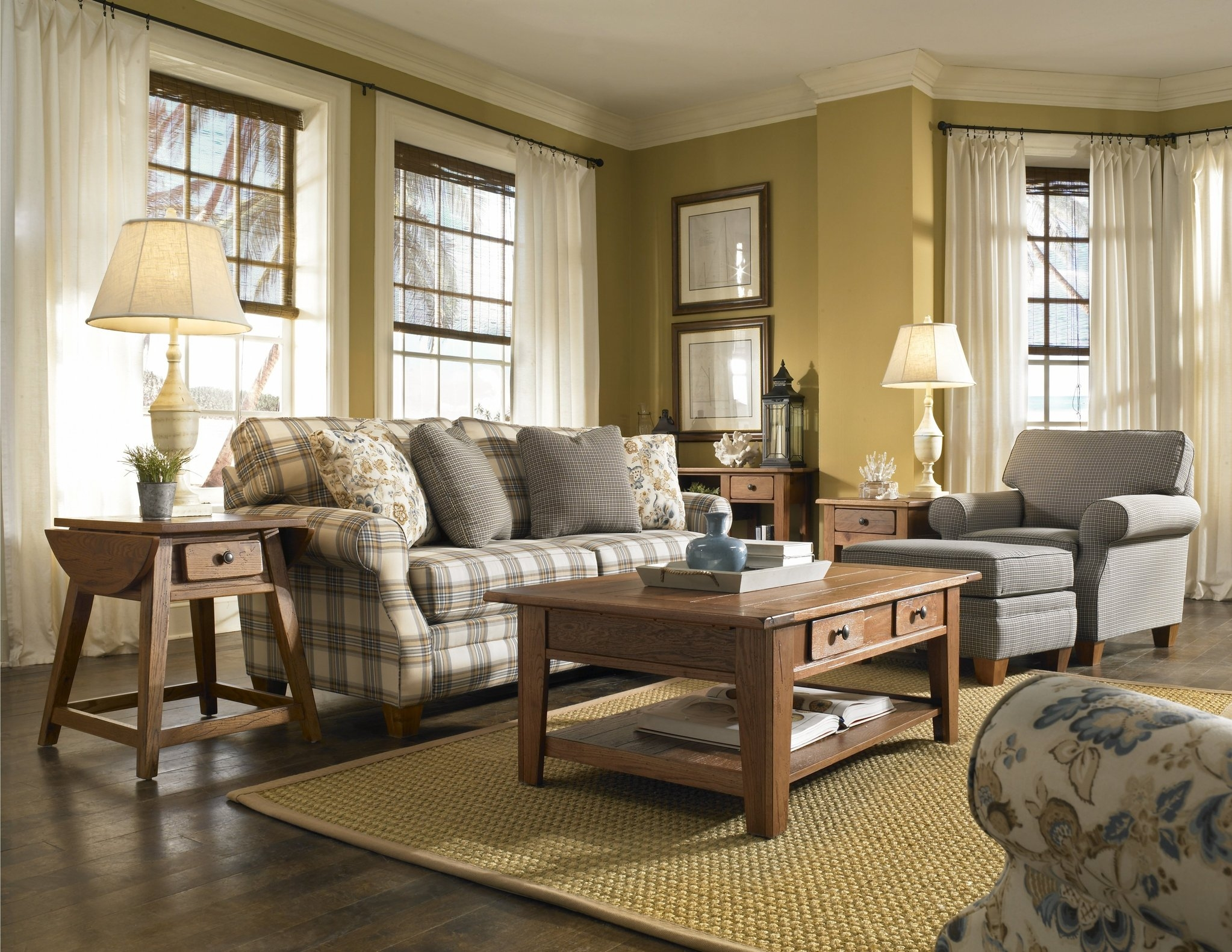 Country Living Room Furniture Living Room English Country With Regard To Country Sofas And Chairs (Image 3 of 15)