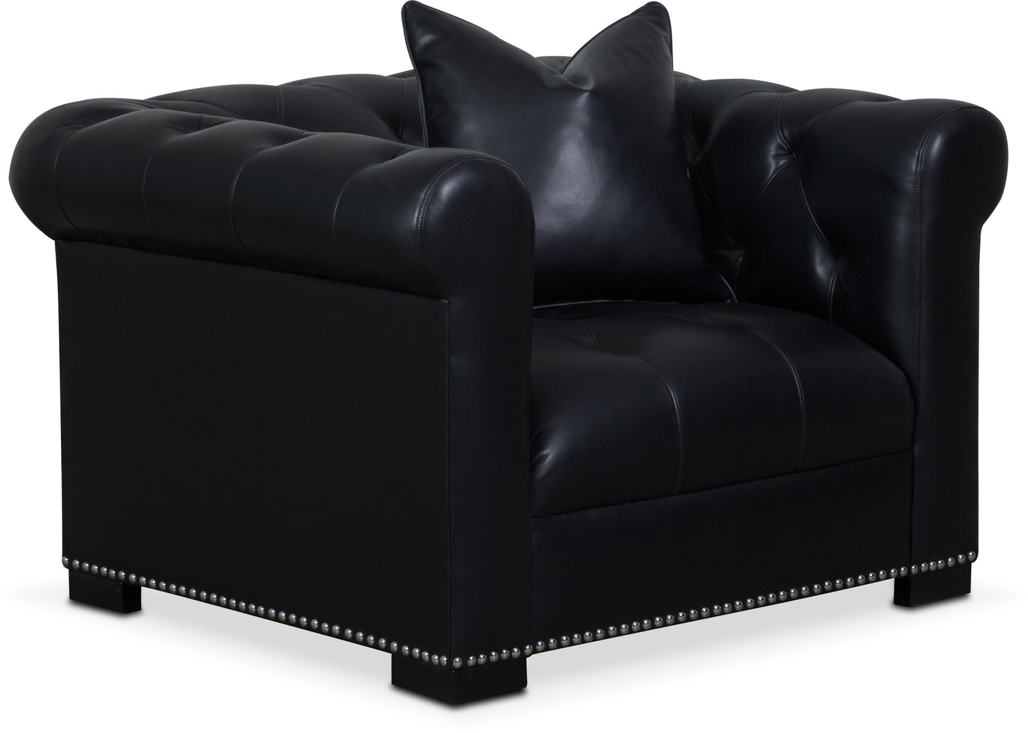 Couture Sofa Chair And Swivel Chair Set Black Value City Throughout Swivel Sofa Chairs (Image 4 of 15)