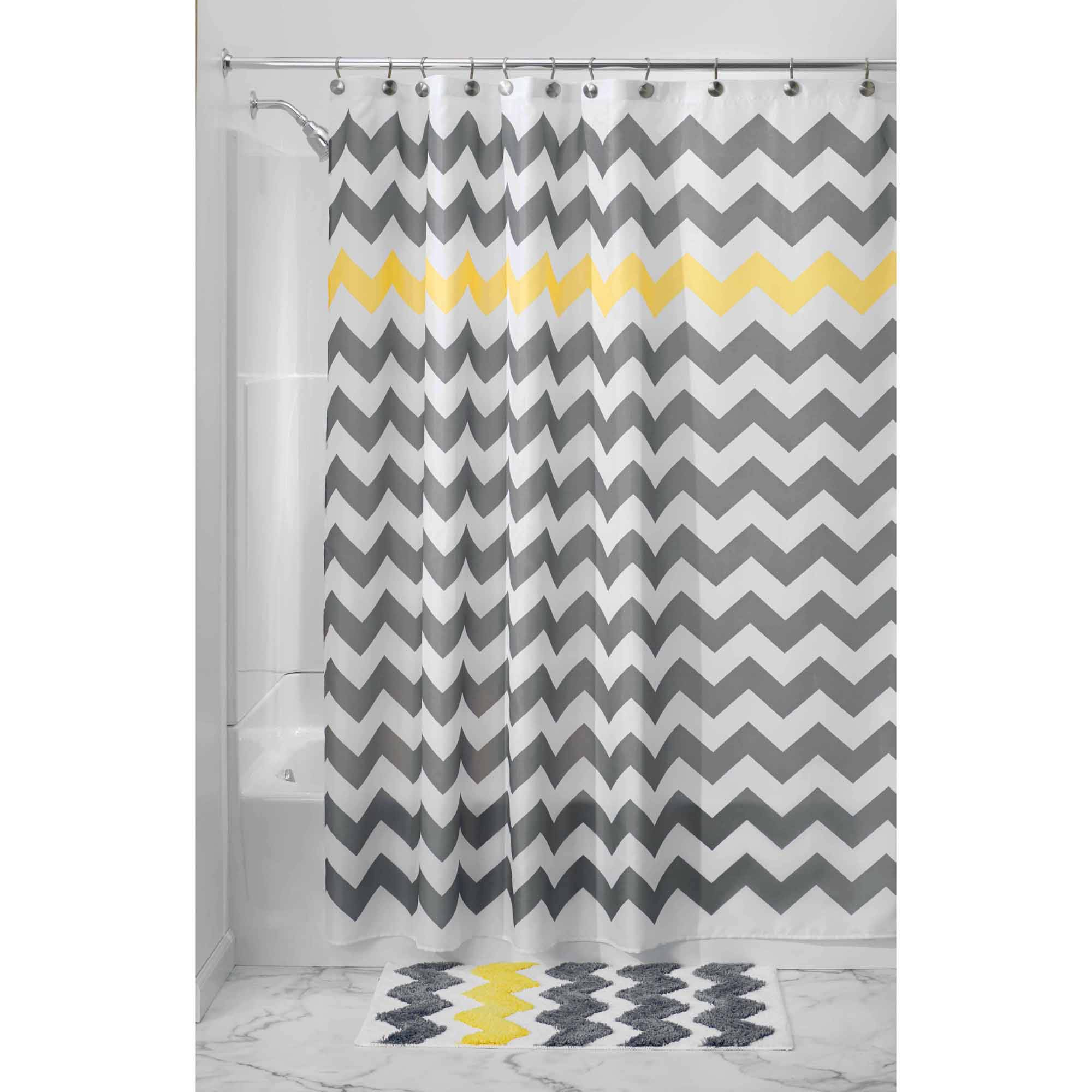 Featured Image of Gray Chevron Shower Curtains