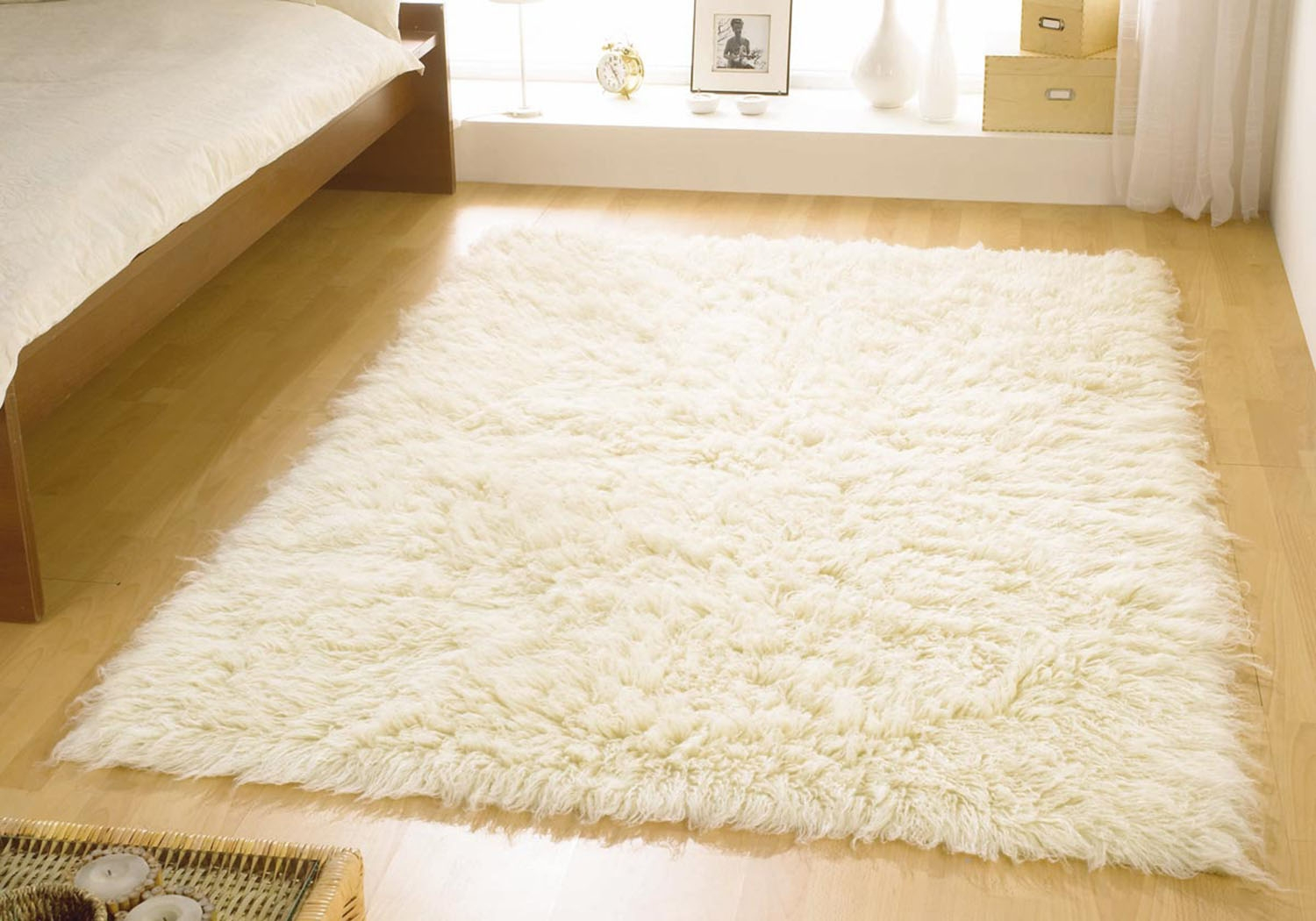 Cream Wool Rug Roselawnlutheran Pertaining To Small Wool Rugs (View 7 of 15)