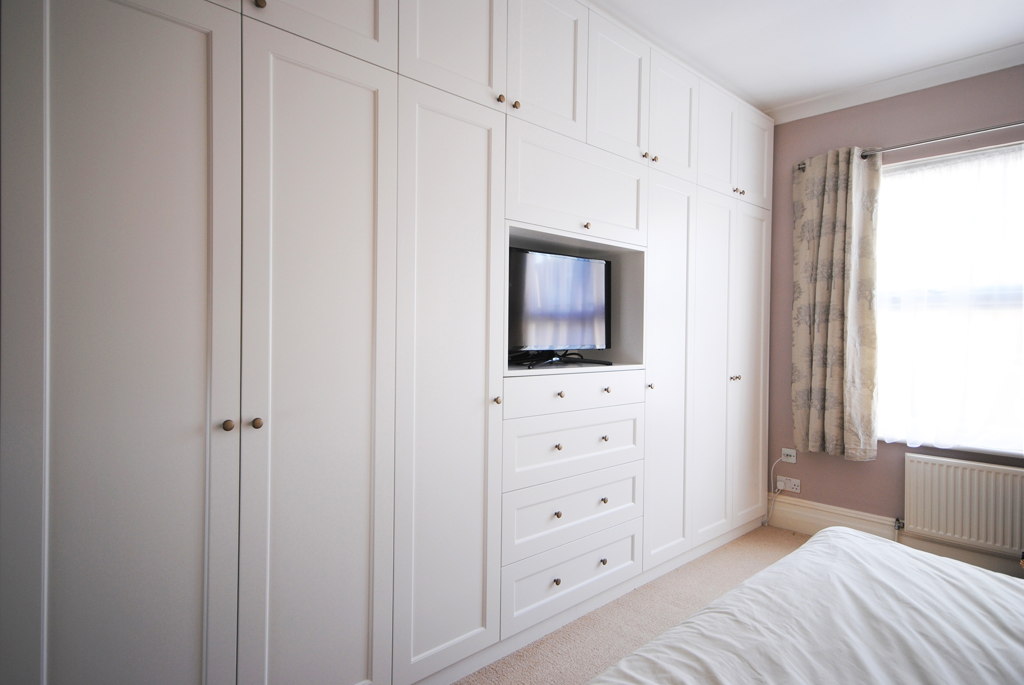 Creative Woodwork Combined A Tv Unit And Wardrobe To Make This Intended For Built In Wardrobes With Tv Space (View 14 of 15)