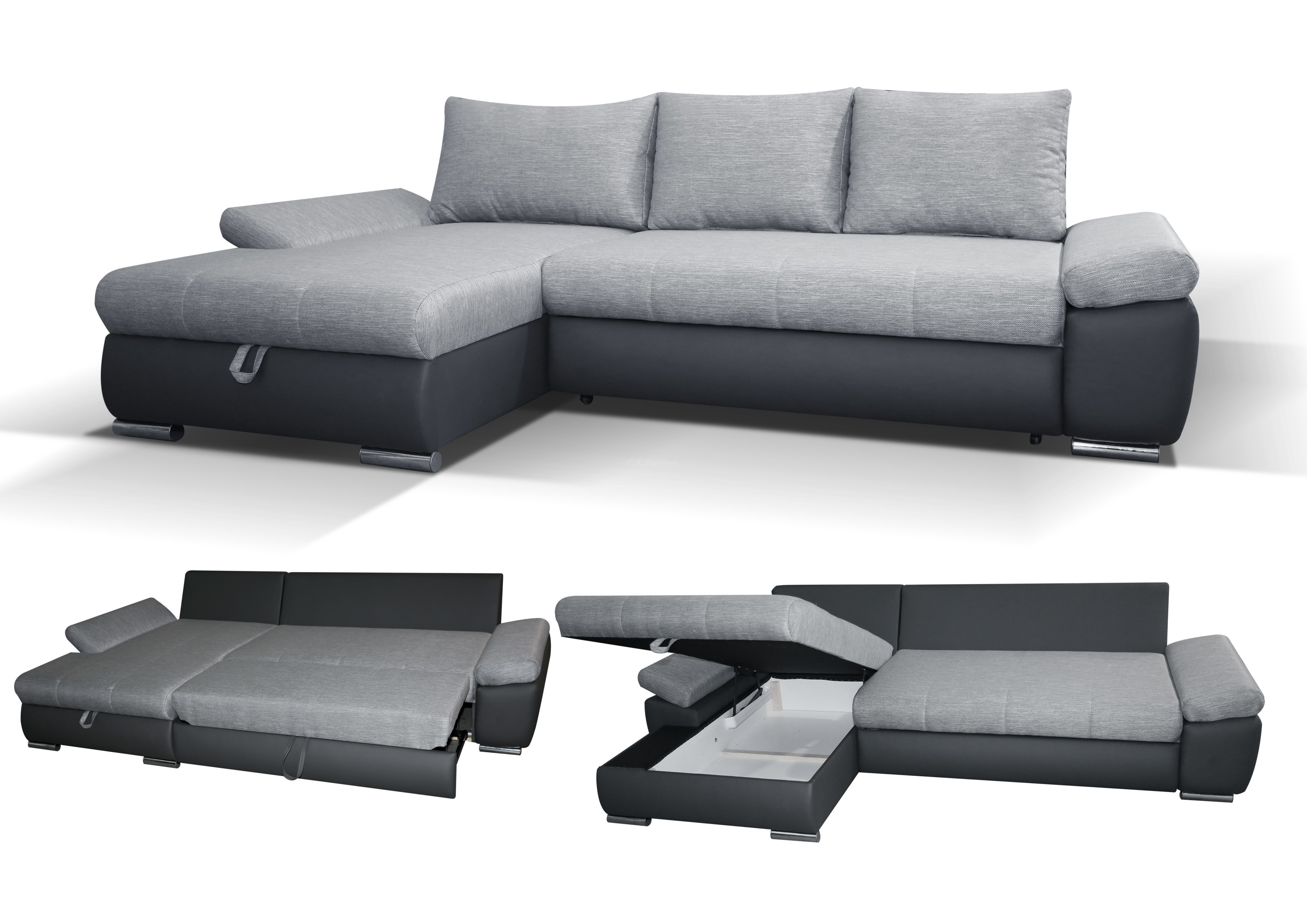 Creativity Corner Sofa Bed Ikea Friheten Sofabed With Storage Regarding Corner Couch Bed (Image 5 of 15)