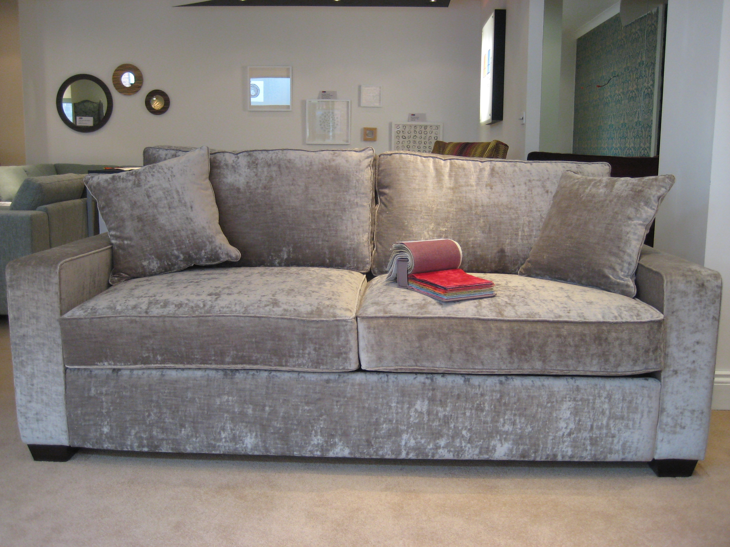Crushed Velvet Sofa In Living Room Google Search Luxurious With Regard To Bespoke Corner Sofa Beds (Image 10 of 15)