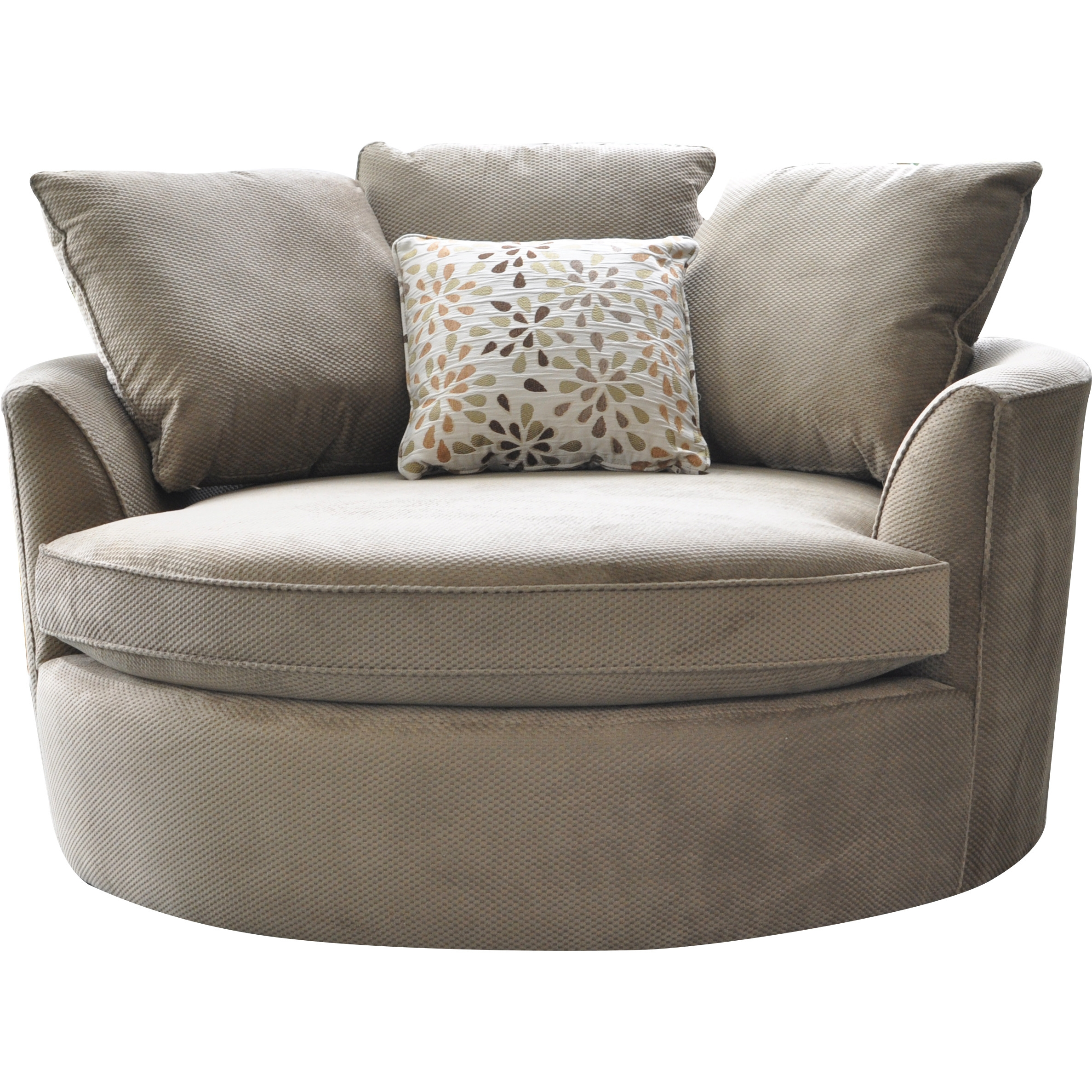 Cuddler Swivel Sofa Chair Roselawnlutheran For Cuddler Swivel Sofa Chairs (Image 4 of 15)