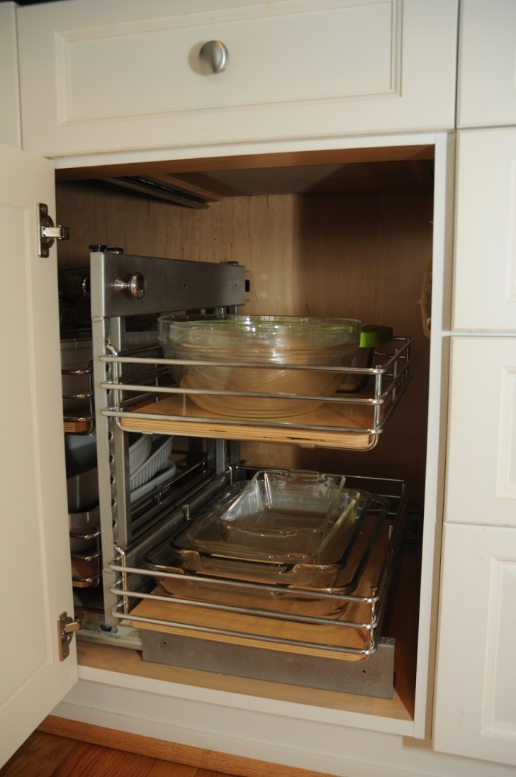 Cupboard Organizers Simple Kitchen Ideas With Light Wooden With Cupboard Organizers (Image 8 of 25)