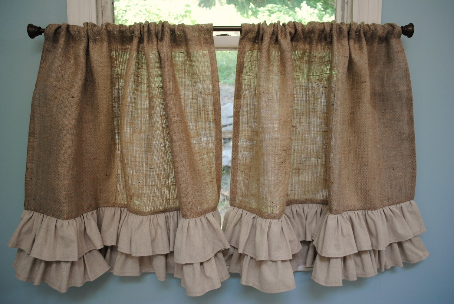 Curtain 25 Best Ideas About Burlap Curtains On Pinterest Throughout Burlap Curtains (Image 10 of 25)