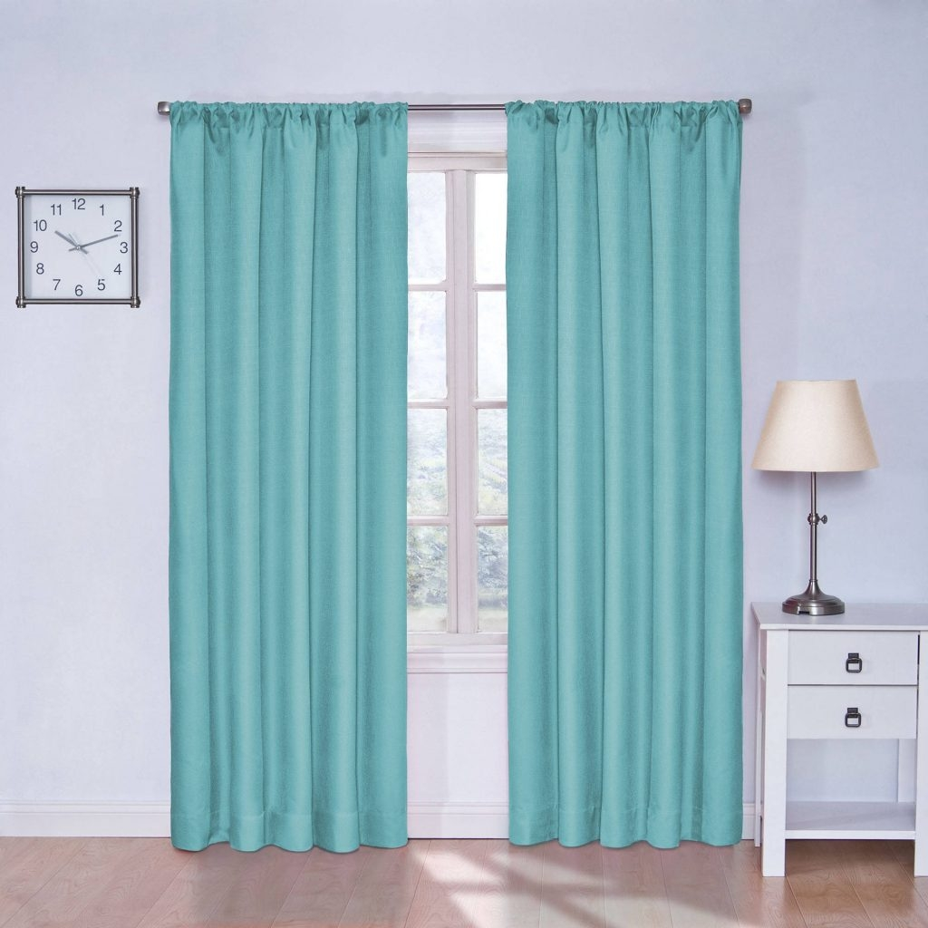 Curtain Buy Faux Suede Blackout Curtains Teal Curtains The With Regard To Faux Suede Curtain Panels (Image 10 of 25)