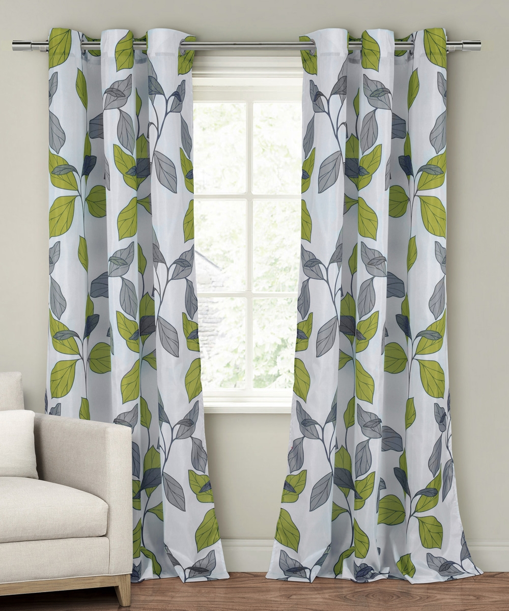 Curtain Classy Dark Green Curtain Panels Decor Ideas Green Throughout Pattern Curtain Panels (Image 4 of 25)