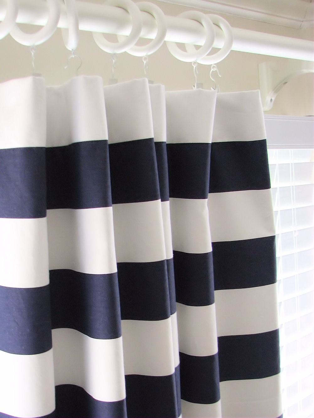 Curtain Collection Cheap Navy Curtain Panels Part 1 Navy Curtain With Regard To Navy And White Curtains (Image 2 of 25)