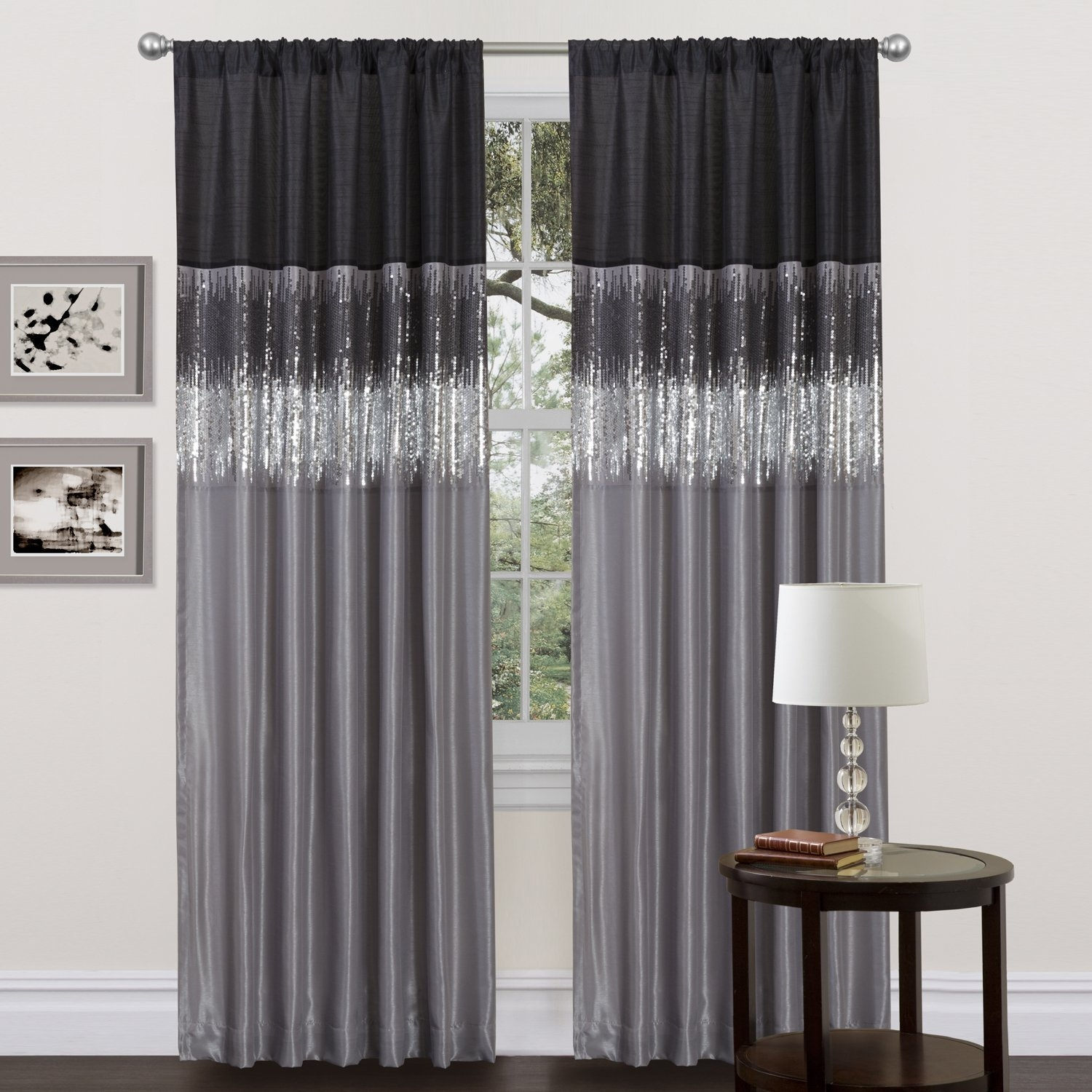 Curtain Cool Design Gray Curtain Panels Ideas White Blackout For Dark Grey Sheer Curtains (Image 6 of 25)