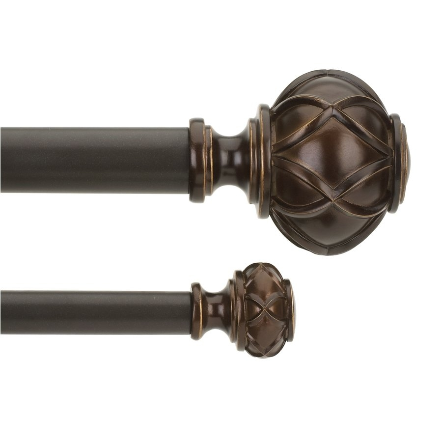 Curtain Curtain Rod Finials Lowes Curtain Rods Curved Shower Regarding Metal Curtain Rod Finials (View 6 of 25)