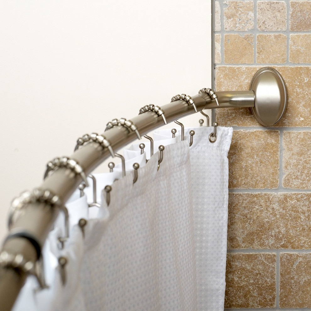 Curtain How To Install Target Shower Curtain Rod For Your Regarding Nautical Curtain Rods (Image 7 of 25)