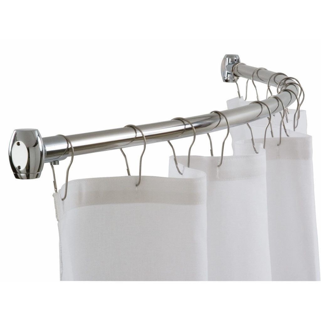 Curtain L Shaped Shower Curtain Rods Shower Accessories Bath Within Antique Curtain Rods (View 23 of 25)