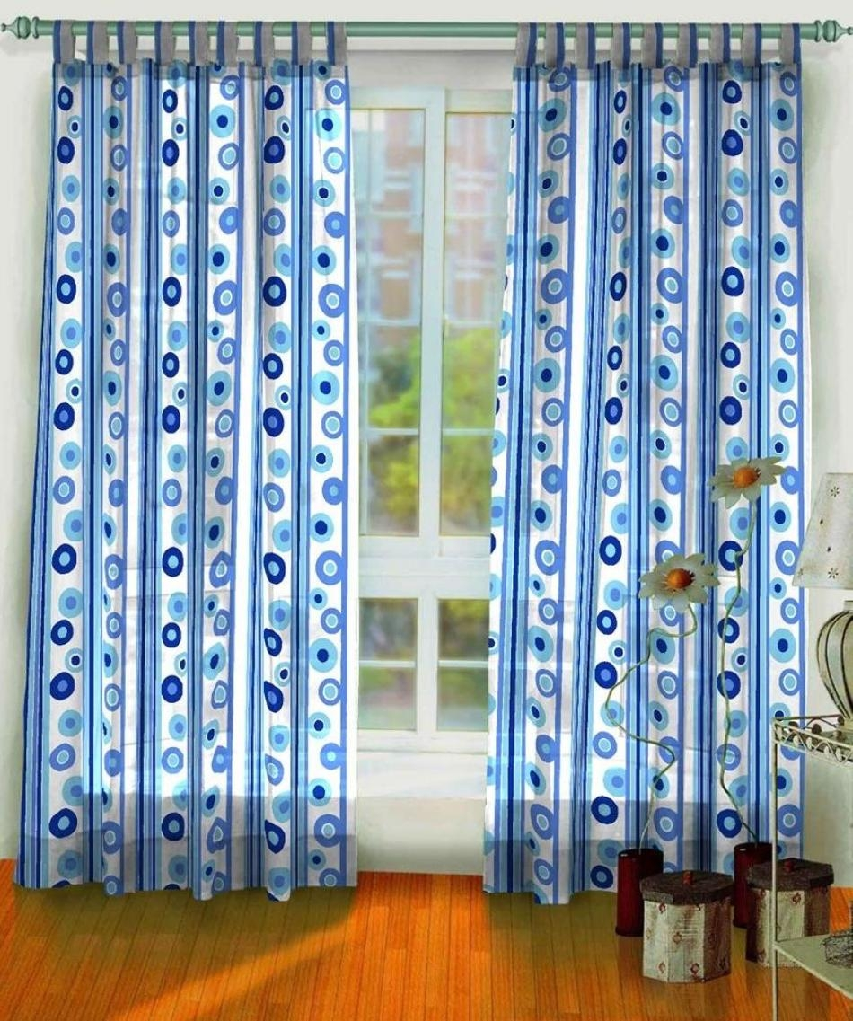 Curtain Marvellous Blue And White Curtains Enchanting Blue And Regarding Navy And White Polka Dot Curtains (Image 7 of 25)