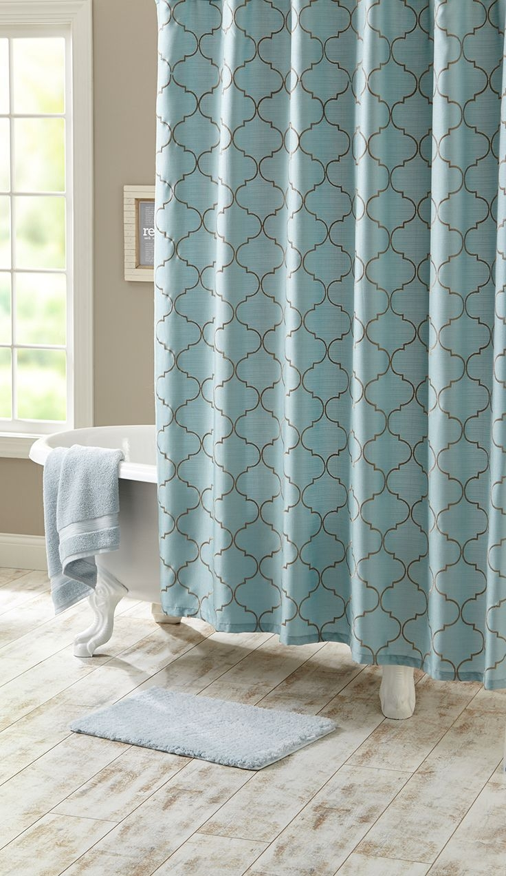 Curtain Walmart Shower Curtain Sets Turquoise Shower Curtains For Turquoise Trellis Curtains (Image 12 of 25)