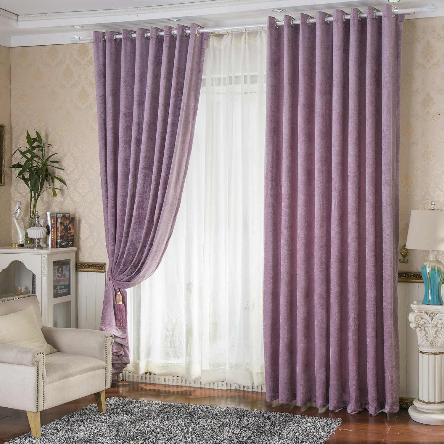 purple and white bedroom curtains 25 purple and gold curtains curtain ideas 19544