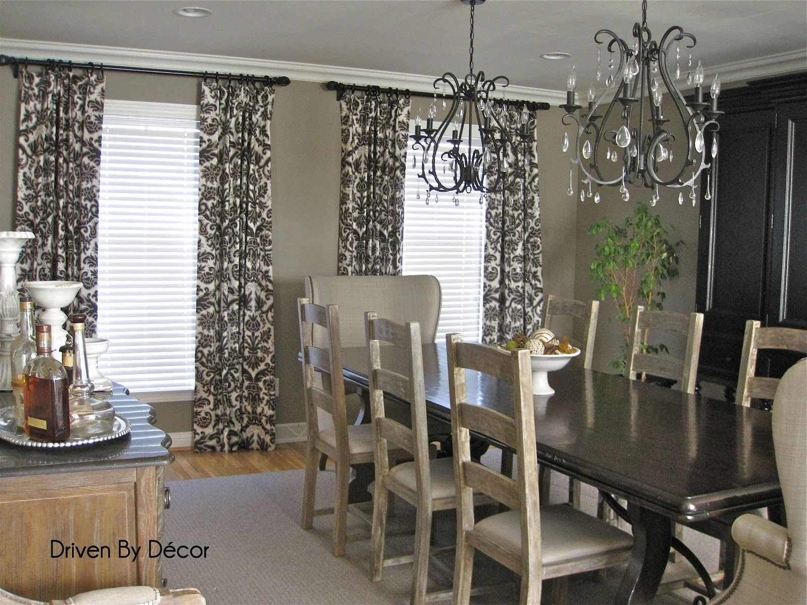 Curtains Black And Gray Dining Table Sheer Grey Curtains Pertaining To Dark Grey Sheer Curtains (Image 7 of 25)