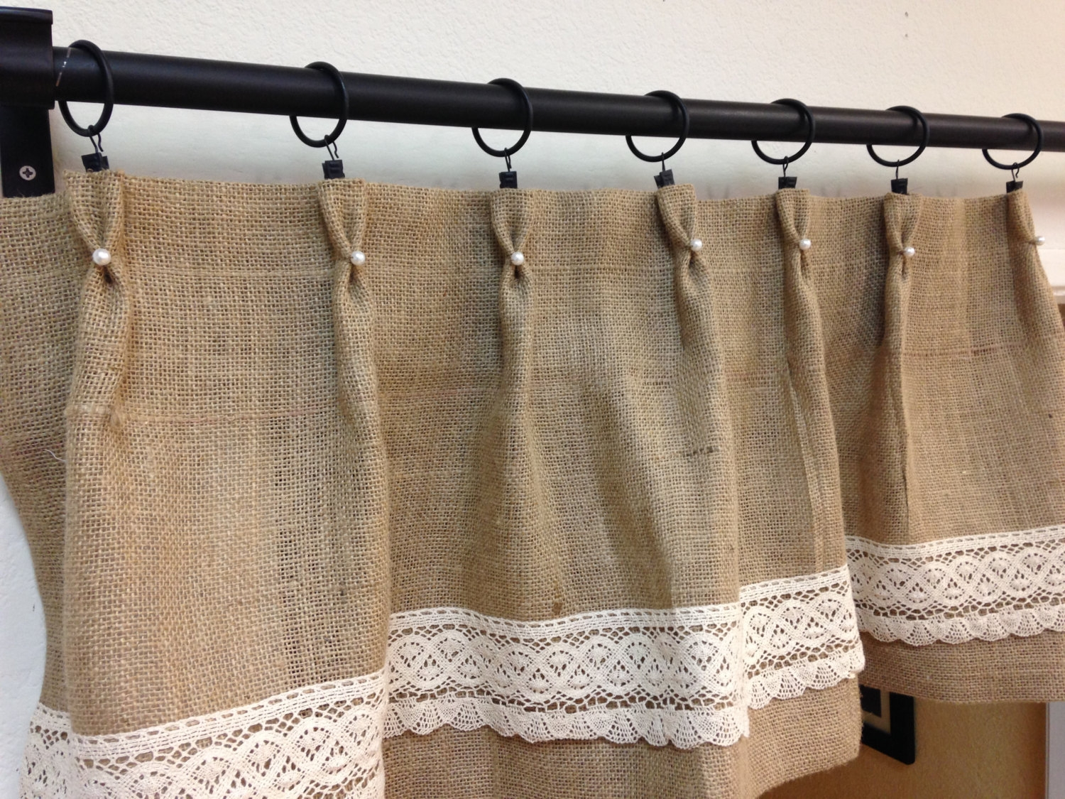 Curtains Burlap Valance Curtains Burlap Curtain Panels Cheap Regarding Burlap Curtains (Image 13 of 25)