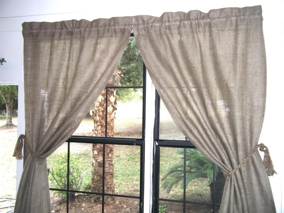 Curtains Clutter Simple But Fabulous So Easy Simple Burlap Within Burlap Curtains (Photo 23 of 25)