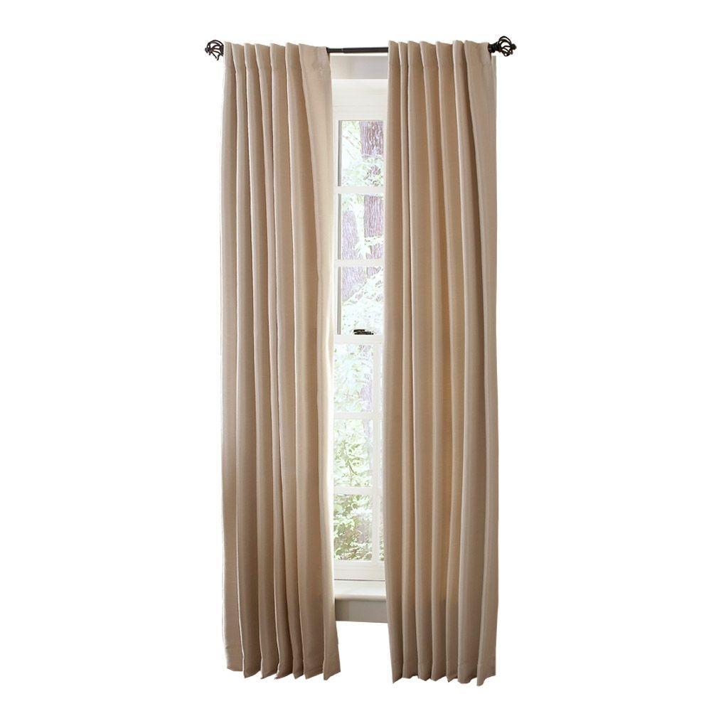 Curtains Inspiring Interior Home Decor Ideas With Cool Home Depot Intended For Extra Long Outdoor Curtain Rods (Image 10 of 25)