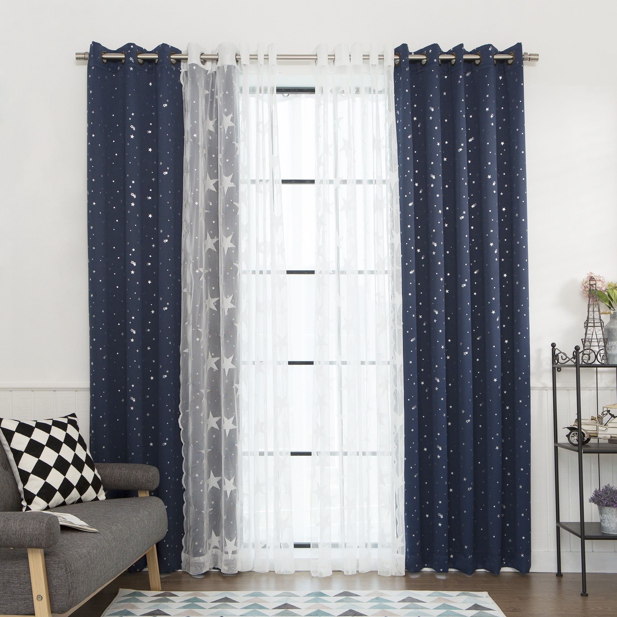 Curtains Inspiring Interior Home Decor Ideas With Cool Home Depot Regarding Extra Long Outdoor Curtain Rods (Image 11 of 25)