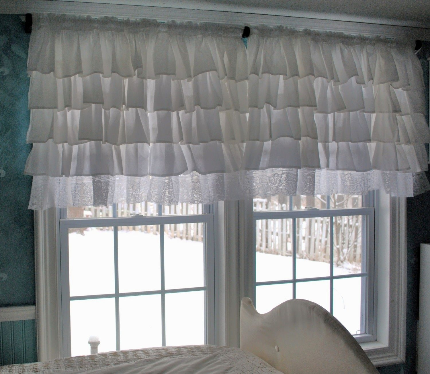 Curtains Ivory Ruffle Curtains Ruffle Curtains Ruffled Inside White Ruffle Curtains (View 20 of 25)