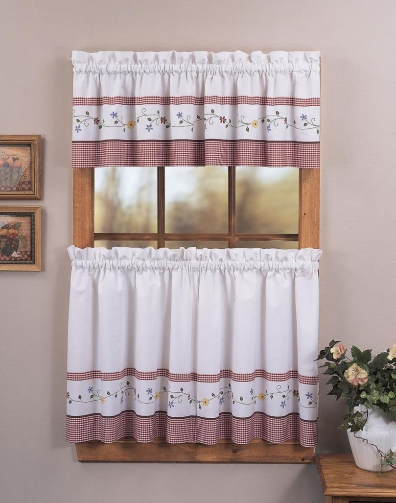 Curtains Kitchen Curtains Waverly And Valances Country Lace Regarding Lace Curtain Sets (View 22 of 25)