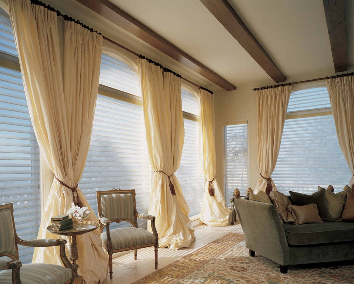Curtains Large Living Room Window Home Design Ideas Within Deep Curtain Rods (View 21 of 25)