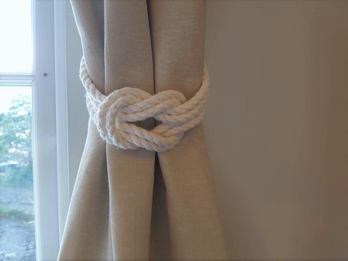 Curtains Love Curtain Rod And Diy Vintage Nautical Rope Throughout Nautical Curtain Rods (Image 12 of 25)
