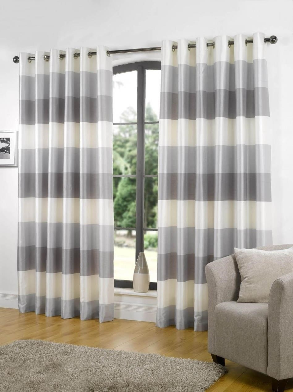 Curtains Panels Orange D Brown Drapery Horizontal Stripe Regarding Stripe Curtains (Image 9 of 25)