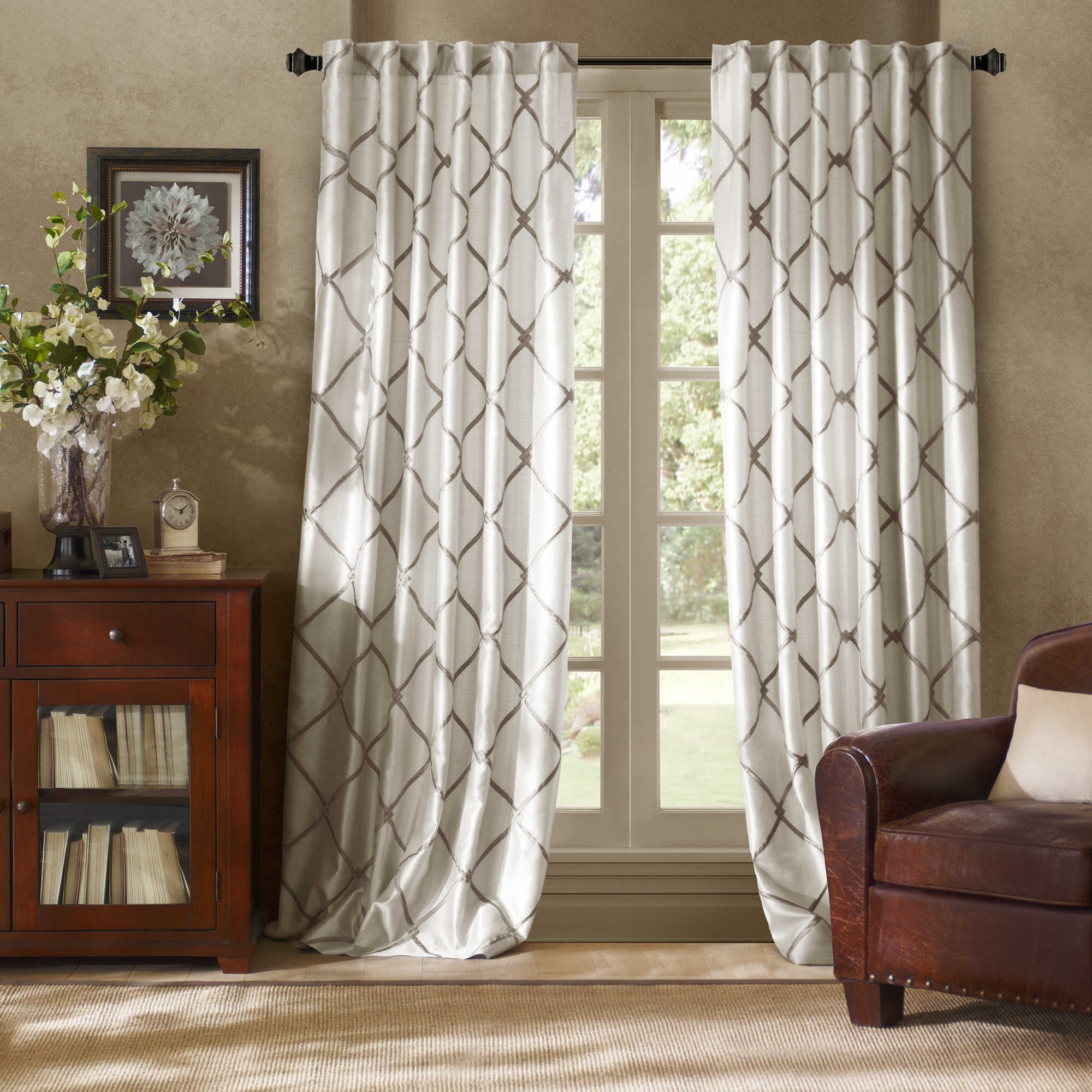 Curtains Short Curtain Panels Inspiration Window Curtain Panels In Pattern Curtain Panels (Image 7 of 25)