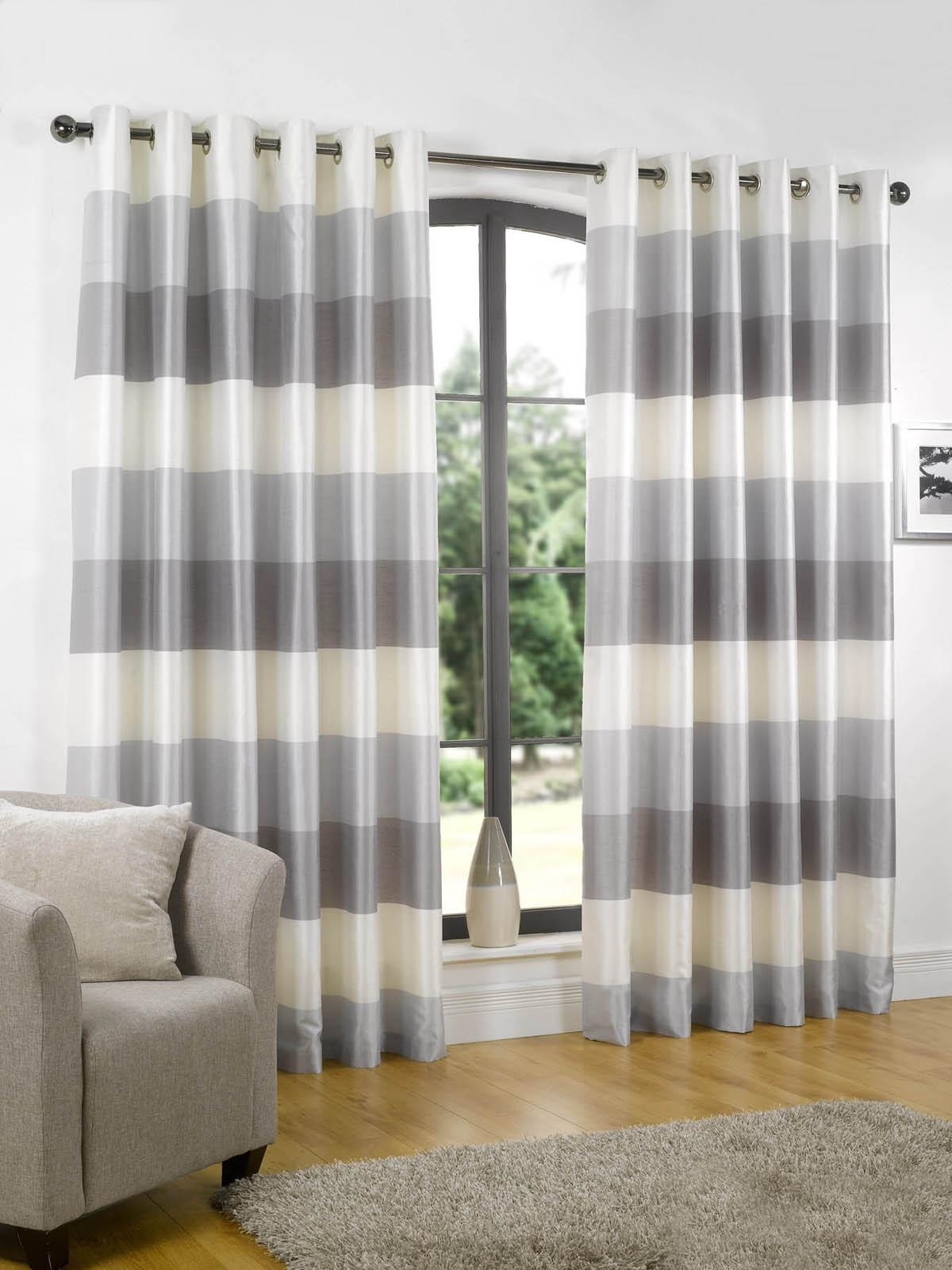 Curtains With Valance Ready Made Decorate The House With Pertaining To Stripe Curtains (Image 10 of 25)