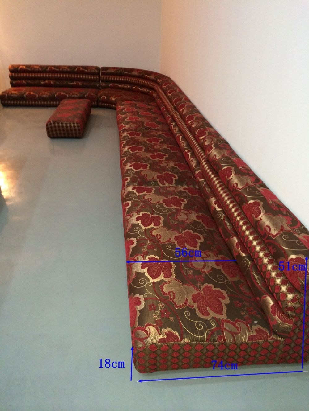 Cushions Arabic Sofa Burning Man Camp Inspiration 2015 Throughout Moroccan Style Floor Seating (Image 4 of 15)