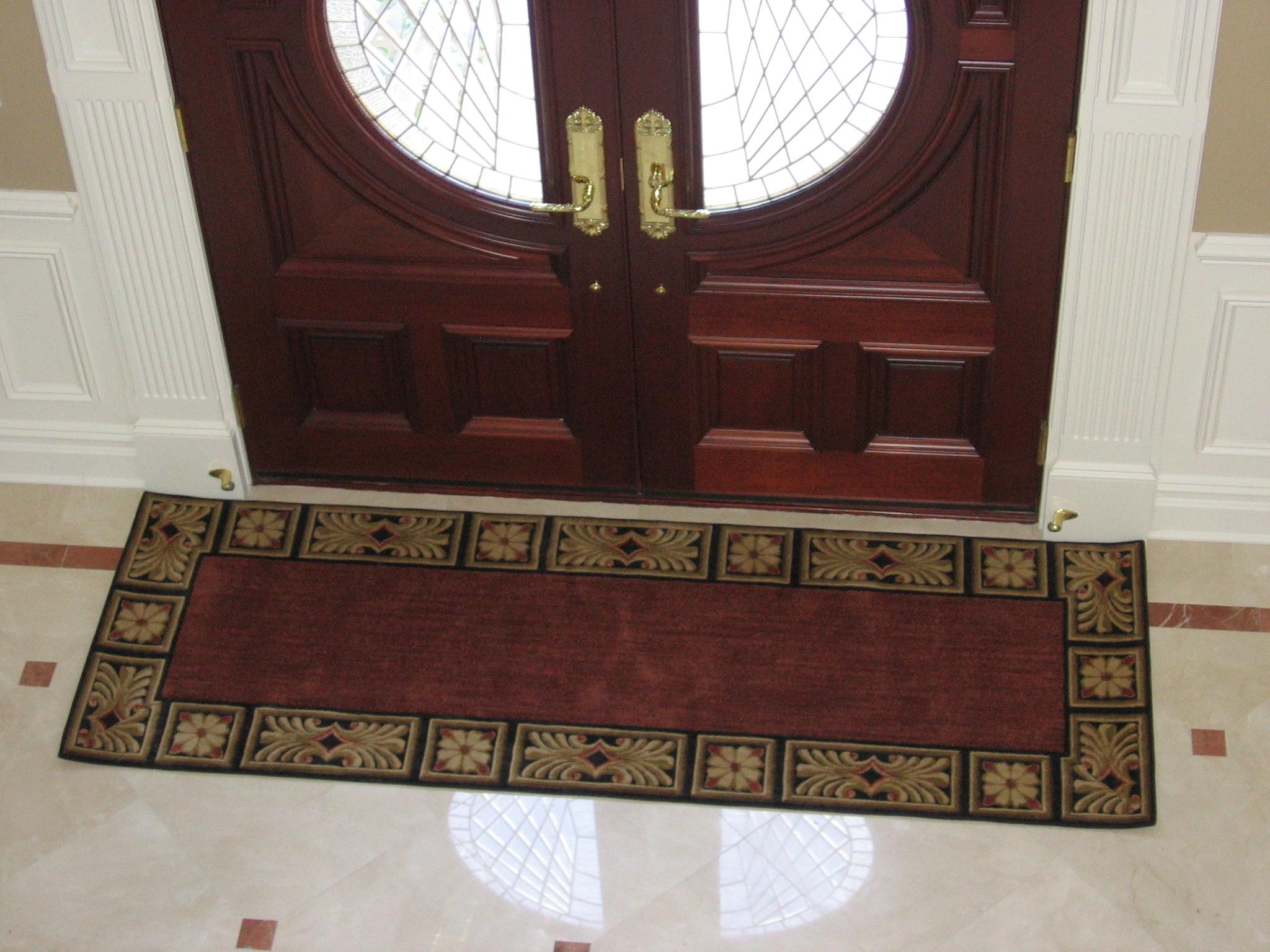 Custom Made Door Rug G Fried Carpet Design Paramus Nj Intended For Runners