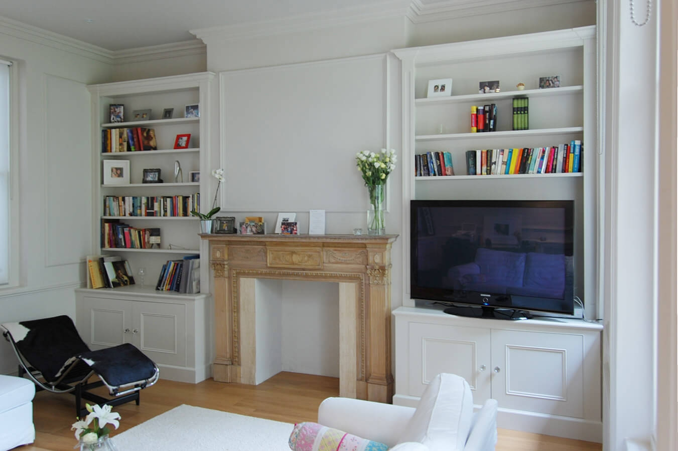 Custom Made Living Rooms Display Tv And Media Units With Fitted Shelves And Cupboards (Image 5 of 15)