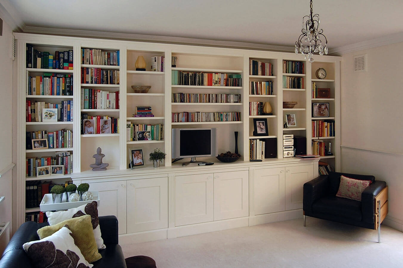 Custom Made Living Rooms Display Tv And Media Units With Shelves And Cupboards (Image 4 of 15)