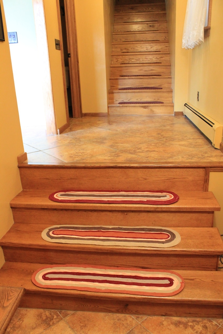 Custom Stair Treads Handmade Braided Rug Style Any Color And In Custom Stair Tread Rugs (Image 5 of 15)