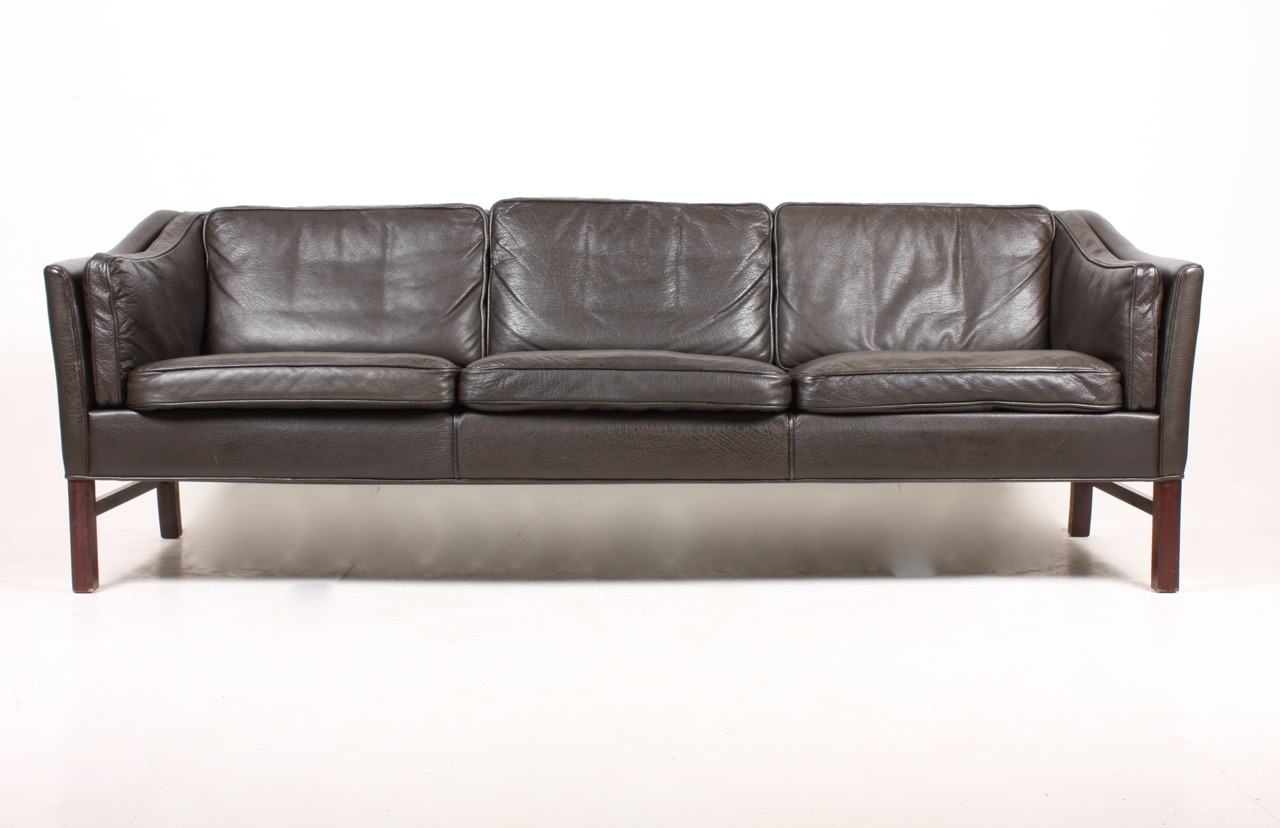 Danish Three Seater Leather Sofa From Grant 1980s For Sale At Pamono Pertaining To 3 Seater Leather Sofas (Image 8 of 15)