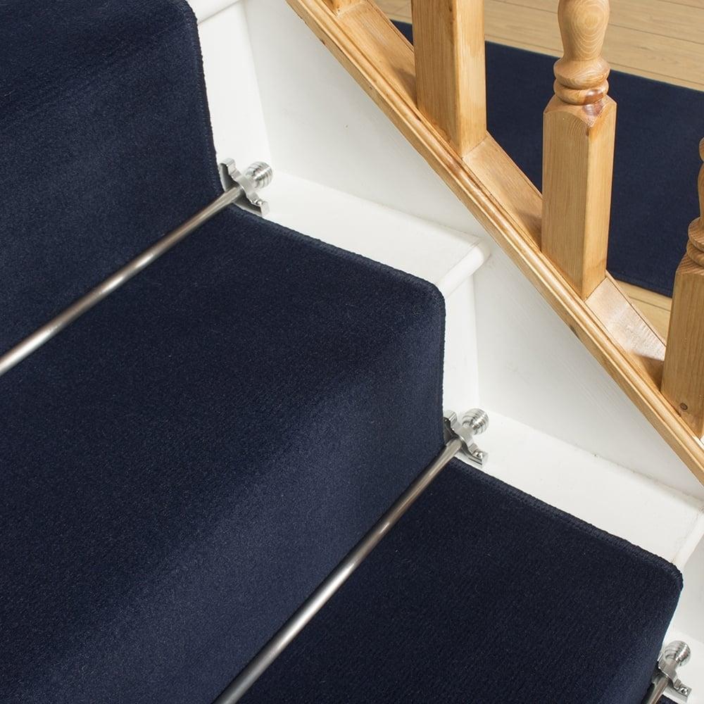 Dark Blue Stair Runner Plain Inside Blue Carpet Runners (View 9 of 15)