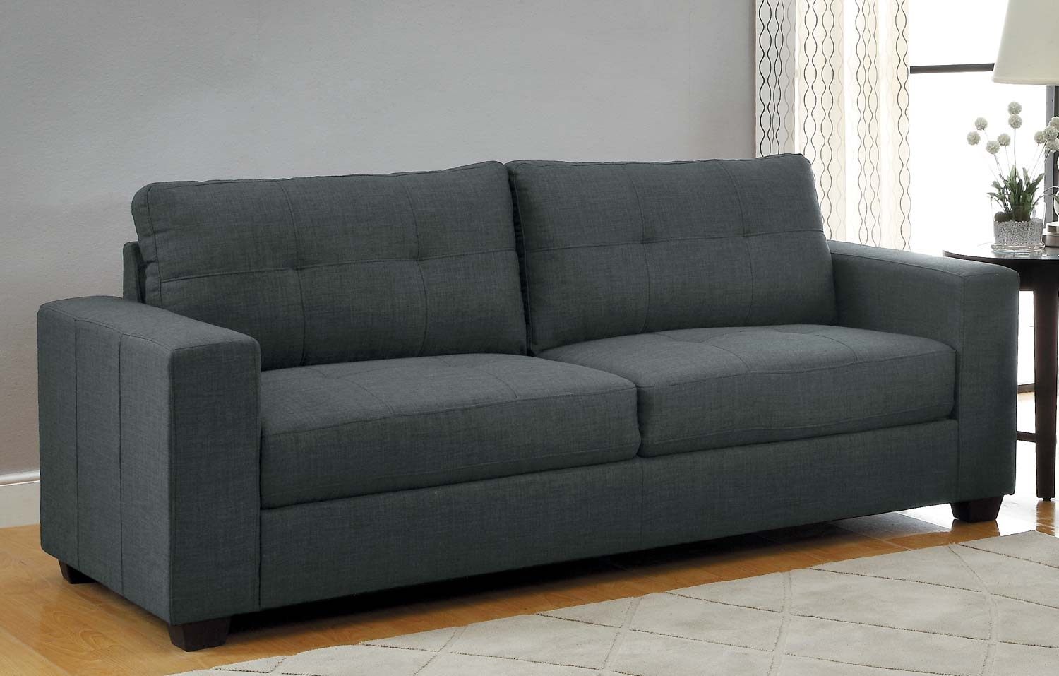 Dark Grey Sofa With Charcoal Grey Sofa (Image 5 of 15)